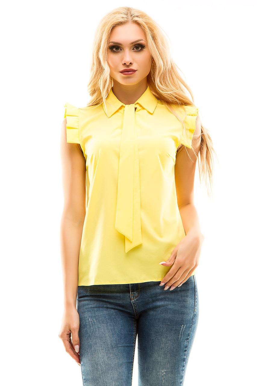 Блузка 272 желтая размер 48