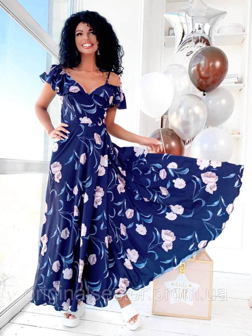 Длинное летнее платье-халат