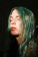 Цветной спрей для волос GLITTER зеленый
