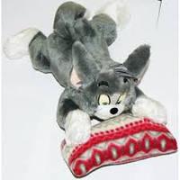 Мягкая игрушка озвученая Кот Том на подушке №29, отличные подарки детям и девушкам , отличный подарок