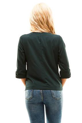 c5c05bf1383 Блузка 271 темно-зеленая размер 46  продажа