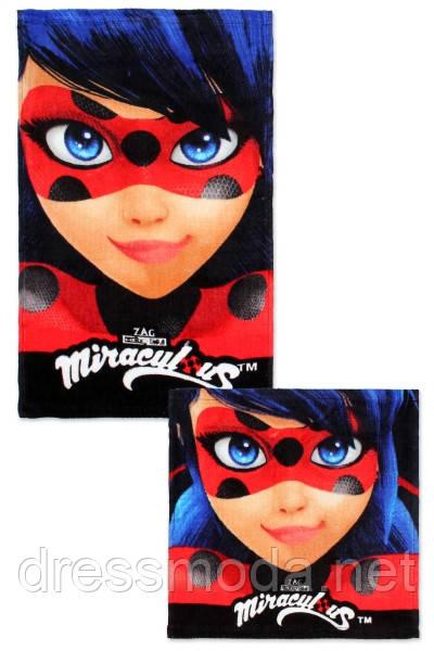 Набір рушників для рук та обличчя LadyBug, 30/30 см + см 30/50