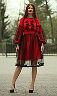 """Жіноче вишите плаття """"Скарлет"""" (Женское вышитое платье """"Скарлет"""") PJ-0005"""