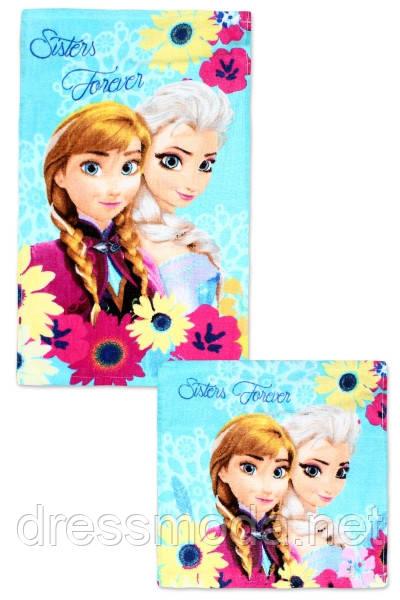 Набор полотенец для рук и лица Frozen, 30/30 см + 30/50 см