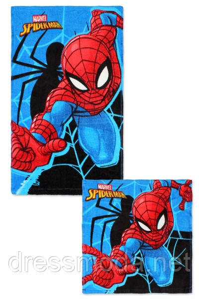 Набор полотенец для рук и лица Spider-Man, 30/30 см + 30/50 см