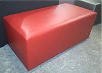 Банкетка Родео цвет Красный 100х50х43 см,пуфик,пуфики,пуф кожзам,пуф экокожа,банкетка,банкетки,пуф к