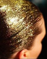 Цветной спрей для волос GLITTER золотой
