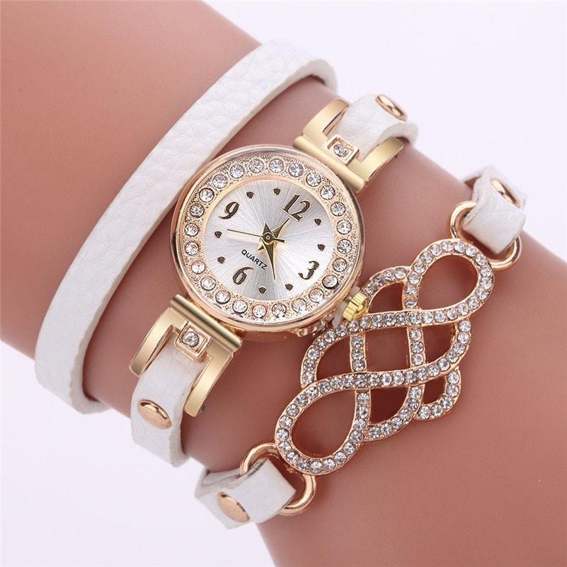 """Женские часы, браслет-намотка """"Принцесса"""" белые"""