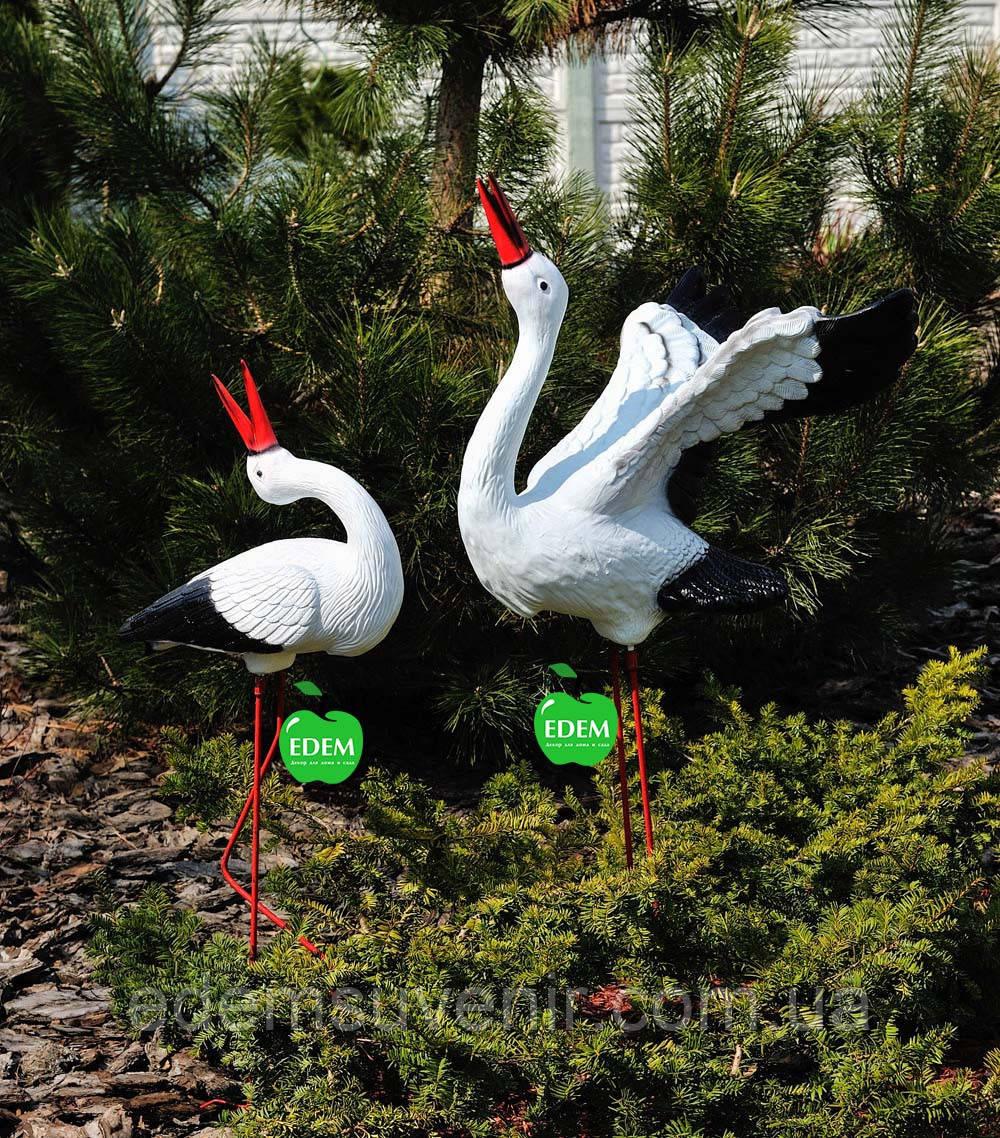 Садовая фигура Семья садовых аистов №29
