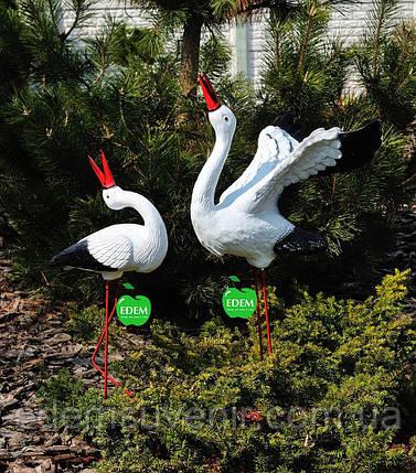 Садовая фигура Семья садовых аистов №29, фото 2