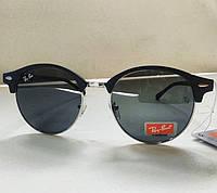 Жіночі сонцезахисні окуляри Ray Ban чорні сіра лінза