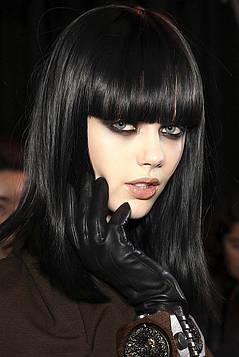 Цветной спрей для волос METALL черный