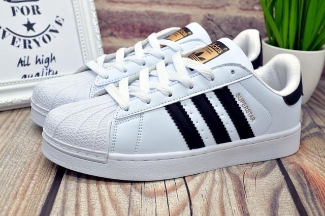 Адидас суперстар женские кроссовки белые