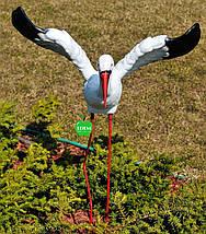 Садовая фигура Семья садовых аистов №31, фото 3
