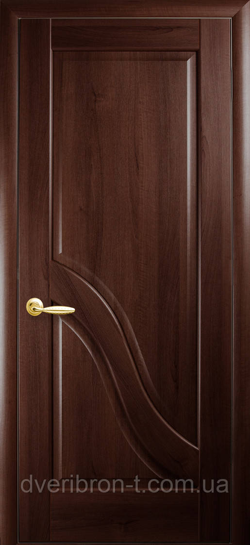 Двери Новый Стиль Амата глухое каштан, коллекция Маэстра Р