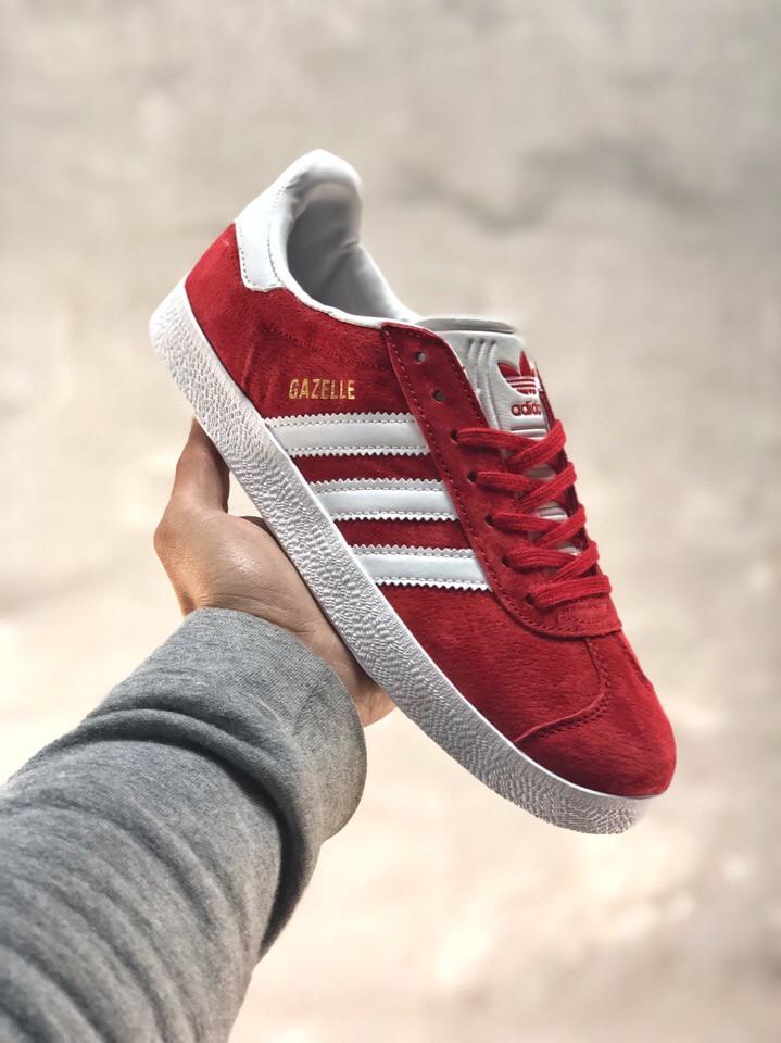 1d5672a6 Кроссовки мужские Adidas Gazelle красные (реплика) - Интернет-магазин  мужской одежды и обуви