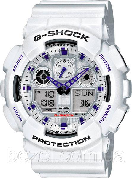 Мужские часы Casio G-Shock GA-100A-7A Касио противоударные японские кварцевые