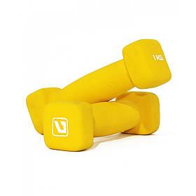 Гантели неопреновые квадратные LiveUp SQUARE HEAD, 1 кг, LS2002-SQ1
