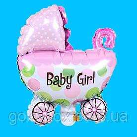 Воздушный шар коляска «baby girl»