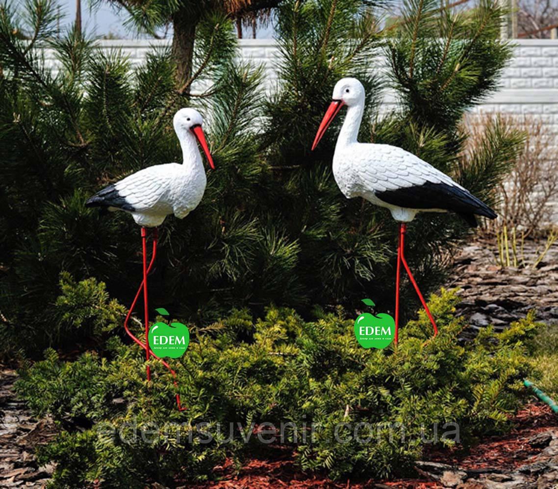 Садовая фигура Семья садовых аистов №32