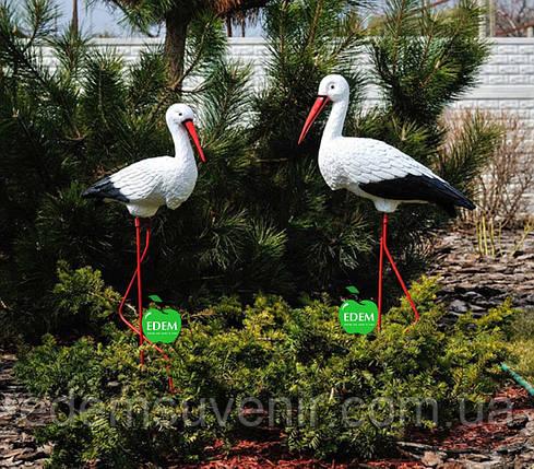 Садовая фигура Семья садовых аистов №32, фото 2