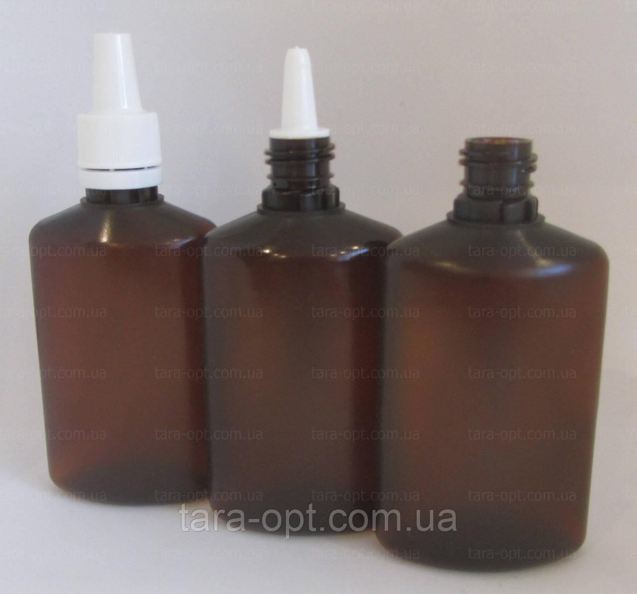 Флаконы плоские 50 мл коричневые, (Цена от 3,25 грн)*