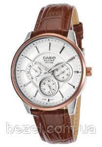 Мужские часы Casio BEM-302L-7A Касио японские кварцевые