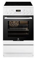 Электрическая плита Electrolux EKC 54550 ОW (50 см,электрическая духовка,белый)