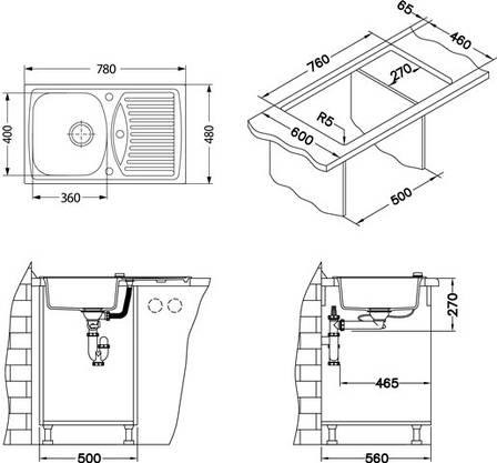 Кухонная мойка Alveus R&R Record 30 (Granital) (с доставкой), фото 2