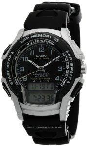 Мужские часы Casio WS-300-1B Касио японские кварцевые