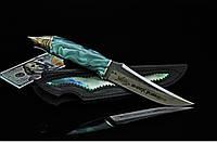 """Нож ручной работы с лазерной гравировкой, в подарок мужчине """"Акула"""", N690"""