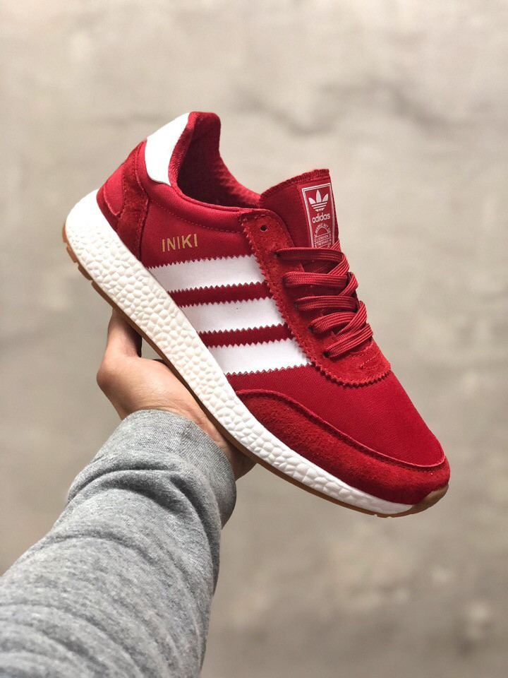 7bccd95a Кроссовки мужские Adidas INIKI Runner красные (реплика) - Интернет-магазин  мужской одежды и