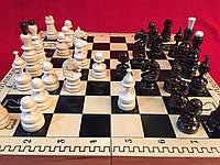 Шахматы деревянные подарочные 48 см Украина с резными фигурами, фото 1
