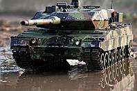 Танк Леопард ІI (Leopard II) A6 на р/у Heng Long с пневмопушкой и дымовым эффектом (HL3889-1) 1:16