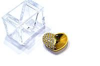 """Флешка 32GB """"Золотое сердце"""", фото 1"""