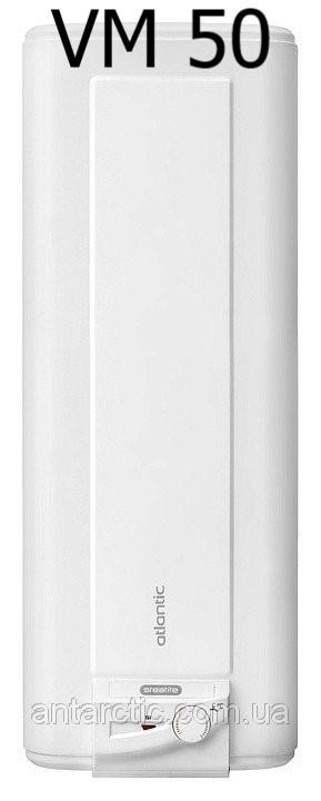 Бойлер 50 литров ATLANTIC STEATITE CUBE VM 50 S3 C л, водонагреватель электрический с сухим теном, плоский