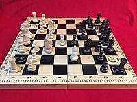 Шахи дерев'яні подарункові 48 см Україна з важкими турнірними фігурами, фото 1