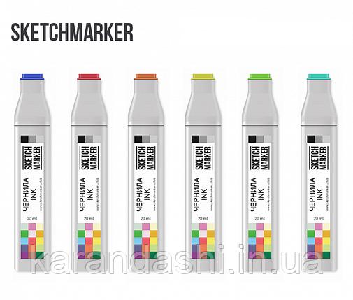 Чернила-заправка для маркеров SKETCHMARKER 20мл SB Simple Blask Черный Простой, фото 2