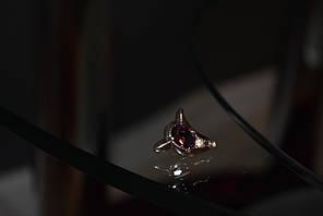 Серебряная брошь-кулон с аметистом и фианитом
