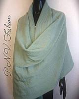 Палантин шерстяной шарф шаль плед оливковый