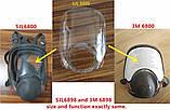 Скло SJL 6898 , Аналог 3M 6898 / 3M 37006 Скло для полнолицевой маски респіратора 3M6800, фото 4