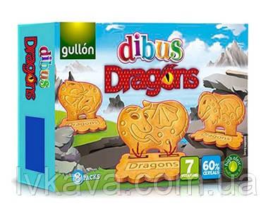 Печенье бисквитное  Gullon Dibus Dragons , 300 гр ( 8 x 37,5 гр )