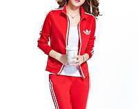 Женский спортивный костюм Adidas красный, фото 1