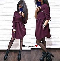 Модное платье-рубашка свободного кроя, размеры S(42-44) M(44-46), фото 2