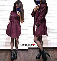 Модное платье-рубашка свободного кроя, размеры S(42-44) M(44-46), фото 3