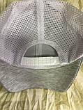 Бейсболка светло серая  с  белой сеткой унисекс, фото 3