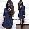 Модное платье-рубашка свободного кроя, размеры S(42-44) M(44-46), фото 5