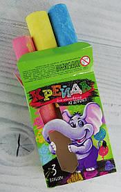 Мел цветной 3 цв. Для асфальта MEL-01-01 Danko-Toys Украина