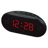 Часы сетевые 902-1 красные
