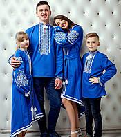 Вишиванки сімейний комплект (4од) - Контраст